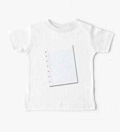 notebook paper Baby Tee