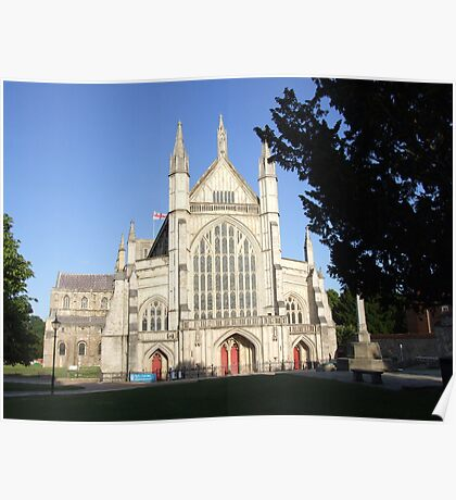 WINCHESTER CATHEDRAL-EVENING Poster