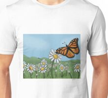 Butterfly in the field Unisex T-Shirt