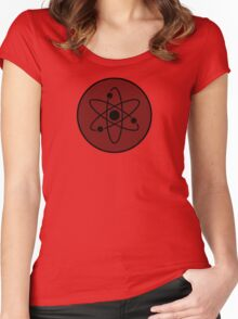 Atom in Circle Women's Fitted Scoop T-Shirt