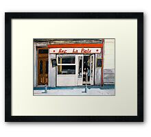 Bar La Piola Framed Print