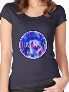Watercolour Galaxy Tomlinson Women's Fitted Scoop T-Shirt