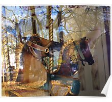 Carousel- Horses at Saratoga  Poster
