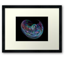 Fractal bubble effect Framed Print