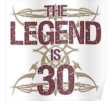 Men's Funny 30th Birthday Poster
