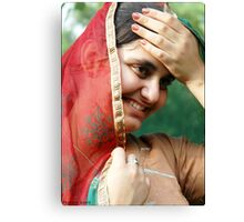 "A talking smile ..  :) "" Canvas Print"