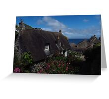 Thatched Cottage, Cadgwith, Cornwall Greeting Card
