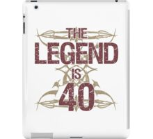 Men's Funny 40th Birthday iPad Case/Skin