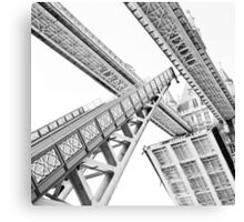 Tower Bridge 02C - Going Up (Grey) Canvas Print