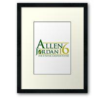 Vote Allen/Jordan 2016 Framed Print