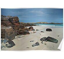 Reef beach, Uig, Isle of Lewis Poster