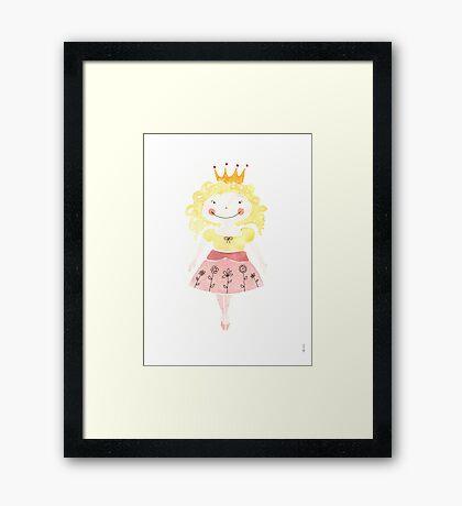 Blond Princess Framed Print