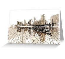 Poster-City 4 Greeting Card