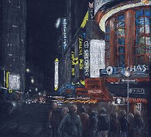 Times Square at Night by Michael Beckett