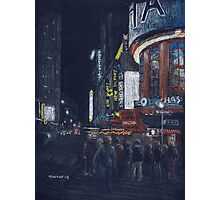 Times Square at Night Photographic Print
