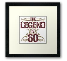 Men's Funny 60th Birthday Framed Print