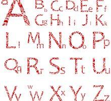 Abstract alphabet by Laschon Robert Paul