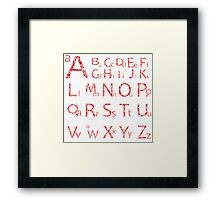 Abstract alphabet Framed Print