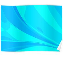 Abstract blue composition Poster