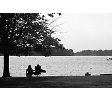 Two girls by Lake Barkley Photographic Print