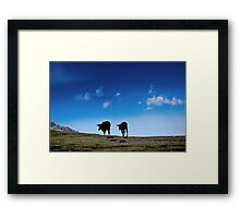 The Nature and The Animals Framed Print