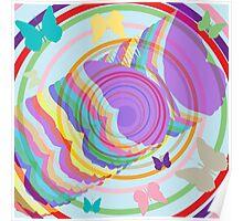 Abstract butterflies Poster