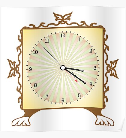 Abstract clock Poster