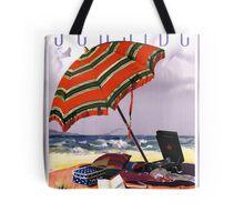 Seaside Australia Vintage Travel Poster Restored Tote Bag