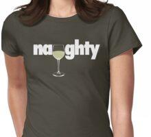 Naughty - White Wine Womens Fitted T-Shirt