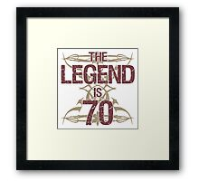 Men's Funny 70th Birthday Framed Print