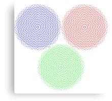 Abstract graphic circles Canvas Print