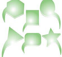 Green text bubbles by Laschon Robert Paul