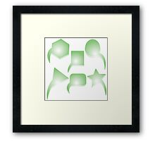 Green text bubbles Framed Print