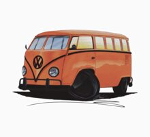 VW Splitty (15 Window) Camper (B) by Richard Yeomans