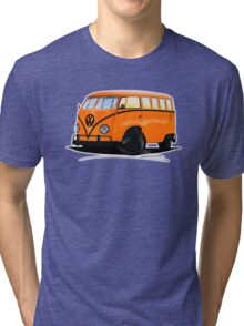 VW Splitty (15 Window) Camper (B) Tri-blend T-Shirt