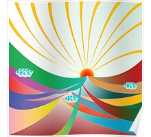 Abstract sunshine Poster