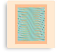 Abstract waves photo frame Canvas Print