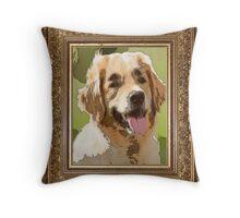 stupid dog Throw Pillow