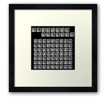 Alphabet buttons collection Framed Print
