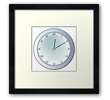 Ancient clock Framed Print