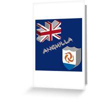 Anguilla 3d flag Greeting Card