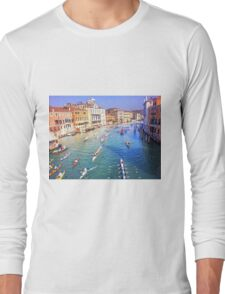 Boat Race on the Canal Long Sleeve T-Shirt