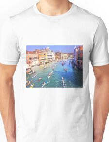 Boat Race on the Canal Unisex T-Shirt