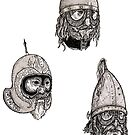 Some beardy chaps with helmets on by Ben Cresswell