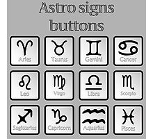 Astro sign buttons Photographic Print