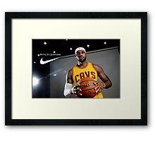 LeBron James - Strive for greatness Framed Print