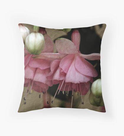 Pink Fuchsia on Paper Throw Pillow