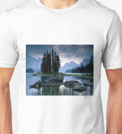 Maligne Lake after a Storm Unisex T-Shirt