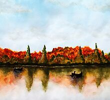 Canadian Autumn Lake by jana95s
