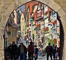 Rothenburg  - Archway on Schmiedgasse by David J Dionne
